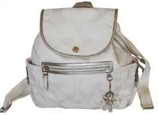 Coach Signature Daisy Kyra Nylon Backpack Bag 19715 White