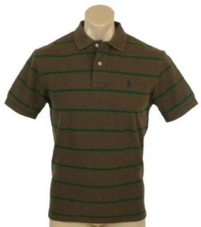 Polo Ralph Lauren Mens Classic Fit Mesh Striped Polo Shirt