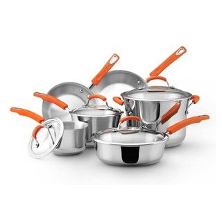 Rachael Ray Stainless Steel II 10 piece Cookware Set