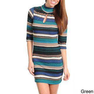 Stanzino Womens Striped Sweater Dress