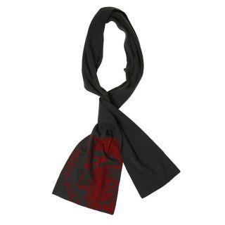 Modèle Felice   Coloris  anthracite et rouge. Echarpe maille jersey
