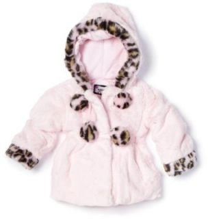 Rothschild Baby girls Infant Soft Teddy Jacket, Baby Pink