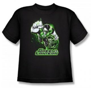 Justice League   Green Lantern Green & Gray Youth T Shirt
