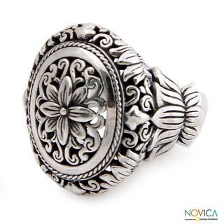 Sterling Silver Precious Lotus Ring (Indonesia)