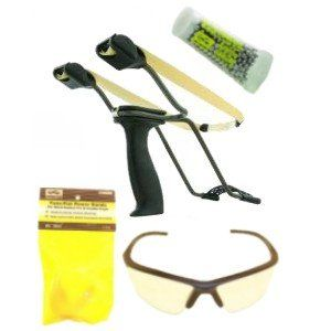 Saunders Falcon 2 Wrist Rocket Slingshot Package Sports