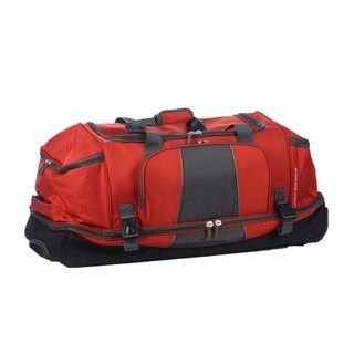 High Sierra Orange Elevate 34 inch Rolling Drop Bottom Duffel Bag