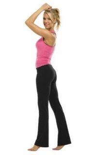Womens Cotton Spandex Boot Pant by Fitness Wear in your
