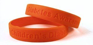 Childrens Diabetes Awareness Rubber Bracelet Wristband
