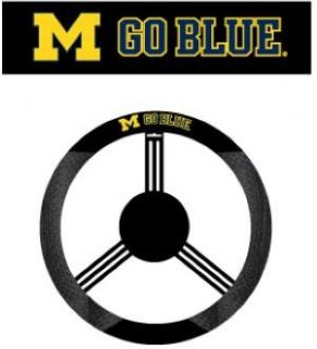 MICHIGAN WOLVERINES MESH STEERING WHEEL COVER Sports