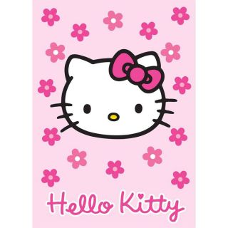 Tapis HELLO KITTY fleur rose 95x133 Hello Kitty   Achat / Vente TAPIS