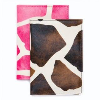 2 Giraffe Print Passport Cover Holders Clothing
