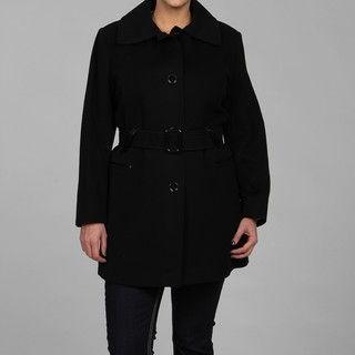 Via Spiga Womens Plus Size Cashmere blend Wool Coat