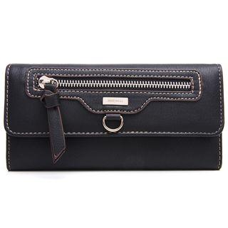 Nine West Black Front Zip Pocket Wallet