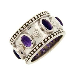Meredith Leigh Sterling Silver Amethyst Ring