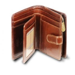 11 Ladies Large Italian Brown Soft Leather Purse/Wallet (Brown) Shoes