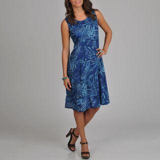 La Cera Womens Floral Print Tiered Dress