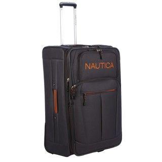 Nautica Helmsman Grey / Orange 28 inch Expandable Luggage Upright