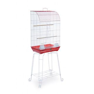 Prevue Pet Products Penthouse Suites Curved Front Bird Cage with Stand