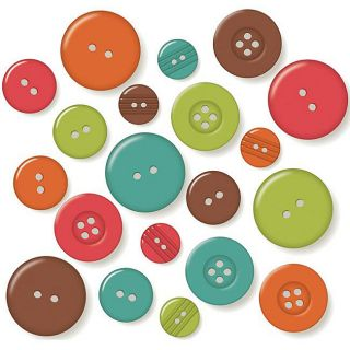 October Afternoon Campfire Buttons (Pack of 50)