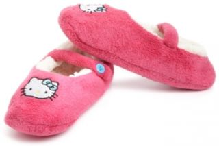 Hello Kitty Juniors Embroidered Solid Fuzzy Babba Slipper