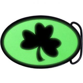 Irish Shamrock Glow in the Dark Belt Buckle Clothing