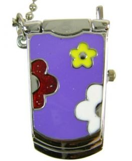 Purple Color Cell phone Watchh   Cell phone Necklace Watch