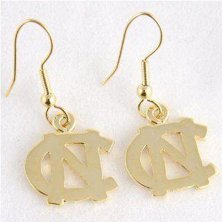 NCAA North Carolina Tar Heels (UNC) Logo Earrings Sports