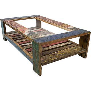 Handmade Wood/ Glass Coffee Table