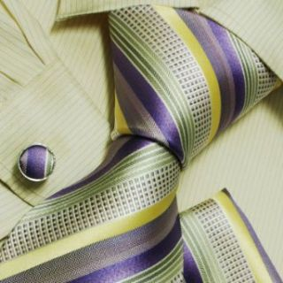 Purple stripes men in ties Yellow christmas gifts for him
