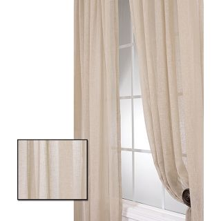Faux Linen Tumbleweed 108 inch Sheer Curtain Panel