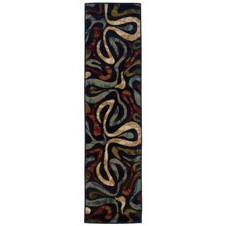 Swirl Black Rug (110 x 73)