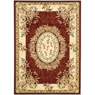 Safavieh Lyndhurst Collection Aubussons Red/ Ivory Rug (9 x 12