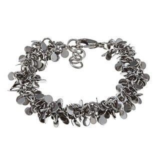 Inox Stainless Steel Multi strand Leaf Bracelet