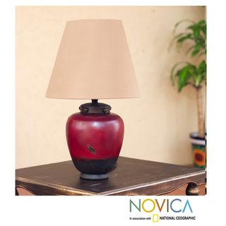 Handcrafted Ceramic Vase of Light Table Lamp (Mexico)