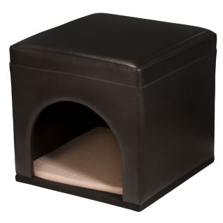 Christopher Knight Home Assembled Espresso Bonded Leather Pet Bed (17
