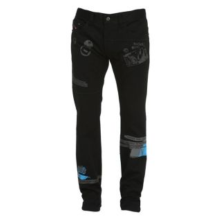 DIESEL Pantalon Poat Homme Noir   Achat / Vente PANTALON DIESEL