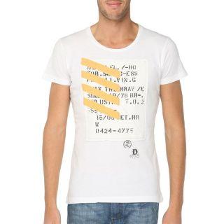 DIESEL T Shirt Tuwua Homme Blanc   Achat / Vente T SHIRT DIESEL T
