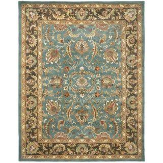 Handmade Heritage Blue/ Brown Wool Rug (83 x 11)