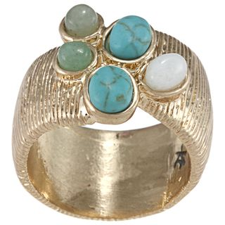 Kenneth Cole Goldtone Turquoise Ring