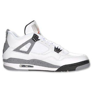 Nike Air Retro 4 Basketball Cement Shoes White/Gray/Black Shoes