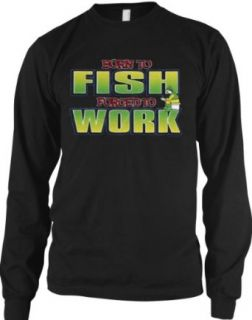 Born To Fish, Forced To Work Mens Fishing Thermal Shirt