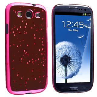 BasAcc Hot Pink Raindrop Snap on Case for Samsung Galaxy S III/ S3