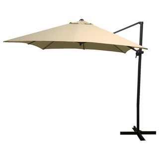 Elegant Antique Beige Square Steel Offset Umbrella