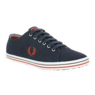 Tenniss Fred Perry 114 en toile Marine + Rouge   Achat / Vente BASKET