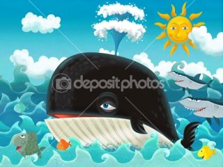 Cartoon whale  Stock Photo © Maciej Sojka #12314293