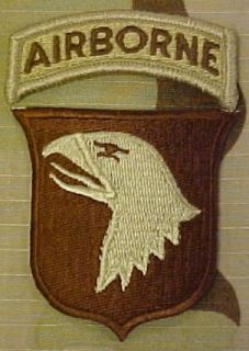 101st Airborne Division Desert Patch with Tab Clothing