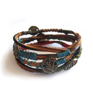Wakami Leather Dream Wrap Bracelet (Guatemala)