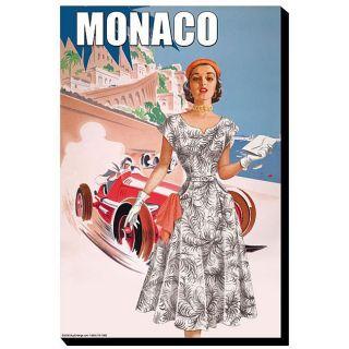 Pierce 50s Womens Retro Fashion   Monaco Giclee Canvas Art
