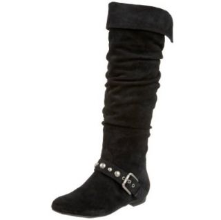 Jessica Simpson Womens Barg Flat Knee High Boot,Black,5 M US Shoes
