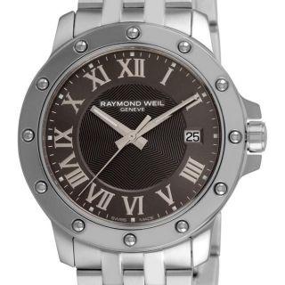 Raymond Weil Mens Tango Stainless Steel Grey Face Watch